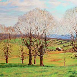 Spring Harmonies - Early Spring on a Farm in Virginia by Bonnie Mason
