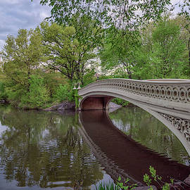 Spring Morning At Bow Bridge by Kristen Wilkinson