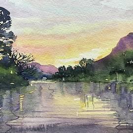 Spring Sunset - Malibou Lake  by Luisa Millicent