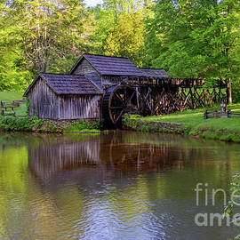 Springtime at Mabry Mill by Norma Brandsberg