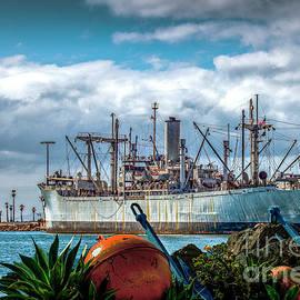 SS Lane Victory Merchant Marine Ship by David Zanzinger