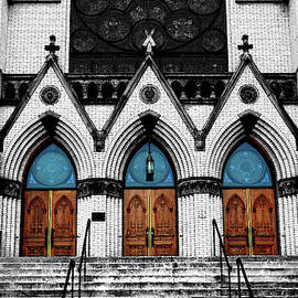 St Andrews Catholic Church Selective Color by Constance Lowery