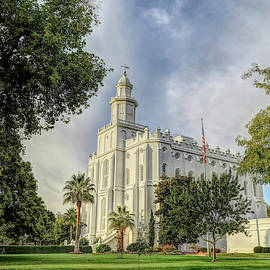 St George L D S Temple 3 by Donna Kennedy