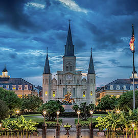St Louis Cathedral At Night by Susan Rissi Tregoning