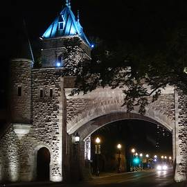 St. Louis Gate Quebec City by Patricia Caron