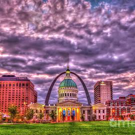 Old St. Louis County Court House Gateway Arch Kiener Plaza St Louis Missouri Art by Reid Callaway