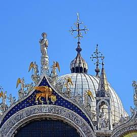 St. Mark's Basilica, Venice, Italy. Detail of the gable. by Lyuba Filatova