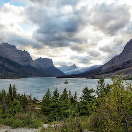 St Mary's Lake And Wild Goose Island by Belinda Greb