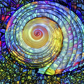 Stained Glass Shell by Peggy Collins