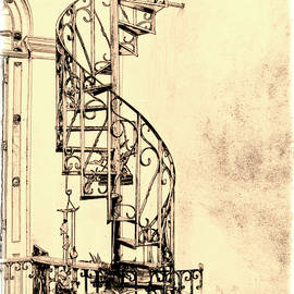Stairway to the Roof by Claude LeTien