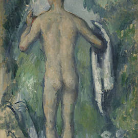 Standing Bather, Seen From The Back by Paul Cezanne