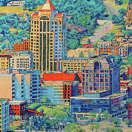 Star City of the South - Roanoke Virginia by Bonnie Mason