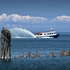 Star Line Ferry Boat to Mackinac Island on Lake Huron near the Straits of Mackinac by Randall Nyhof