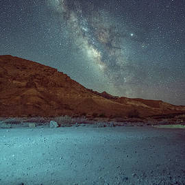Starry Night At Ramon Crater 1 by Dubi Roman