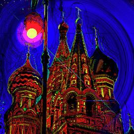 Starry night. Pokrovsky Cathedral. by Andy Za