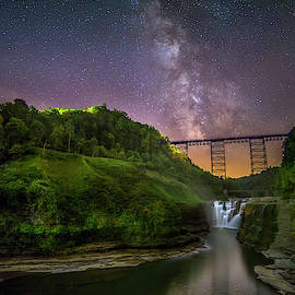 Starry Sky At Letchworth by Mark Papke