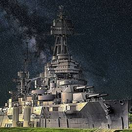 Stars Over The Uss Texas by JC Findley
