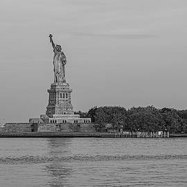 Statue of Liberty monochrome by Sean Sweeney