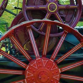 Steam Engine Wheels by Suzanne Wilkinson