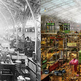 Steampunk - The City Of Wonderment 1889 - Side By Side by Mike Savad