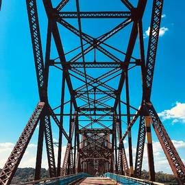 Steel and Sky - Chain of Rocks Bridge - Old Route 66 by Matt Richardson