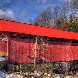 Sterling Covered Bridge - Stowe, Vt by Joann Vitali