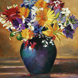 Still Life Blue Vase by David Lloyd Glover