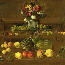 Giovanni Battista Crescenzi - Still Life with Flowers, Fruit and Vegetables