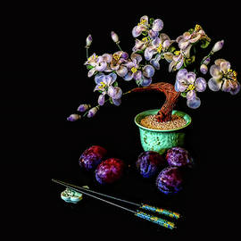 Still Life with Plumbs by Stuart Harrison