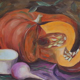 M B - Still life with pumpkin