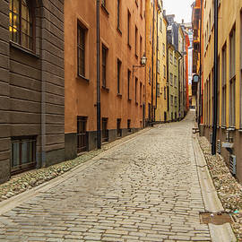 Stockholm Old Town Alley by Stefan Mazzola