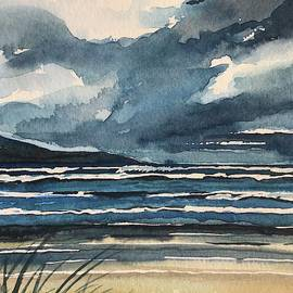 Stormy Beach Carmel. by Luisa Millicent