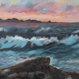 Stormy Ocean By Big Sur by Ane Howard