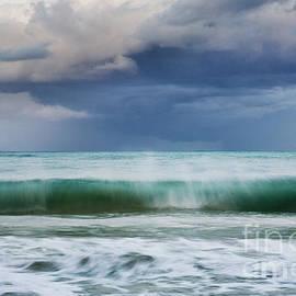 Stormy Ocean Wave - Kailua, Oahu by Charmian Vistaunet