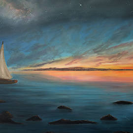Straits Of Mackinac Sunrise by Ken Figurski