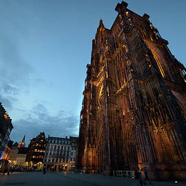 Strasbourg Cathedral Square at nightfall by RicardMN Photography