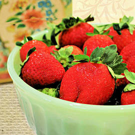 Strawberry Bowl by Diann Fisher