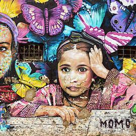 Street Art - Girls and Butterflies