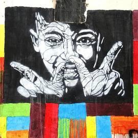 Street Art In Tunisia Part Of The Wall 05 by Angelika GAIGL