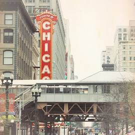 Street View of Chicago Theater by Mary Pille