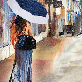 Stroll In The Rain by Pennie McCracken