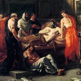 Eug  ne Delacroix - Study for The Death of Marcus Aurelius