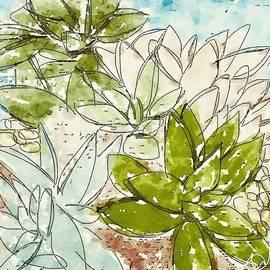 Succulent Love I  by Monica Martin