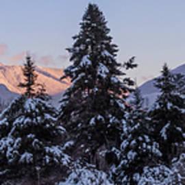 Chris Whiton - Sugar Hill Winter Alpenglow Panorama