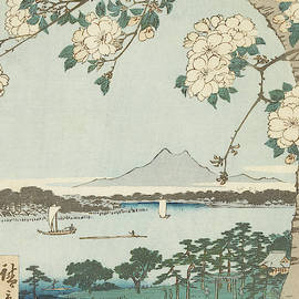 Suigin Grove and Masaki, on the Sumida River, 19th century by Utagawa Hiroshige