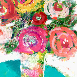 Summer Bouquet- Art By Linda Woods by Linda Woods
