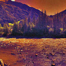 Summer Sunset And The Alpine River by Bumsable