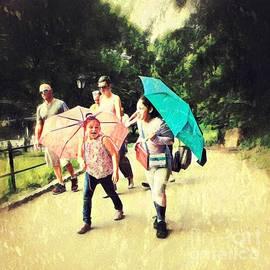 Sun Brellas - Summer in the City - Central Park New York by Miriam Danar