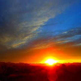 Sunset In Golden Valley Arizona by James Welch