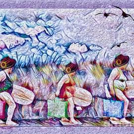 Sunflower Surfers  by Breena Briggeman